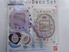 NEW TAMAGOTCHI 4U Deco Set Plate Cover Sticker Jewel Dream Made in JAPAN F/S #Bandai
