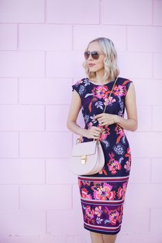 Printed in Eliza J Dress - Lombard and Fifth