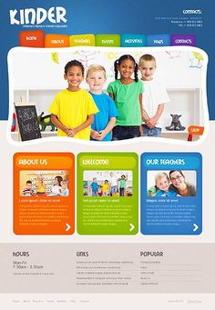 Template 48443 - Kindergaten & Children Responsive Website Template ...