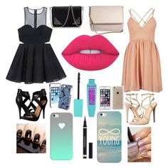 """""""Black vs peach"""" by anastasiawaring on Polyvore featuring Michael Antonio, Schutz, Bebe, Givenchy, Lime Crime, Vera Bradley, Speck, Casetify and Yves Saint Laurent"""