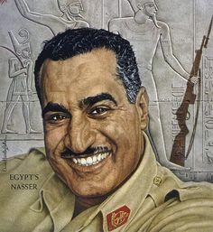 Gamal Abdel Nasser 1956 TIME cover art by Ernest Hamlin Baker