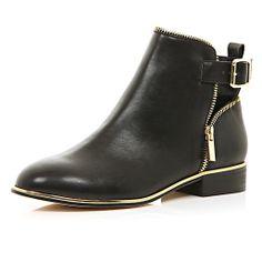 Black zip trim ankle boots - ankle boots - shoes / boots - women