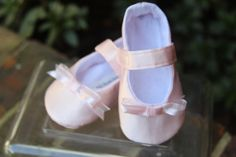 Girl's Baby Shoes Size 1 extra small Soft Sole by BarnsleeBaby, $19.99