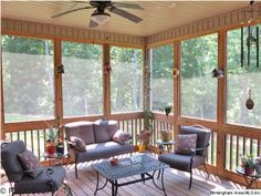 This relaxing screened in porch overlooks a beautifully landscaped yard. Take the virtual tour of 1009 Lucy Circle in the Carrington Estates community.