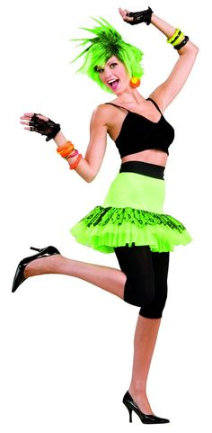 Green Pop Star Skirt Neon Green SkirtShow everyone just how much girls want to have fun in this pop star skirt! The fun, neon green skirt is lined costume Costumes Beginning With C, Costumes Starting With C, 80s Costume, Costume Shop, Cat Costumes, Zumba Outfit, 80s Outfit, Vip Fashion Australia, 80s Pop