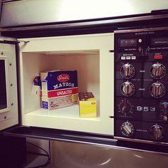 Florence's microwave/matzo storage