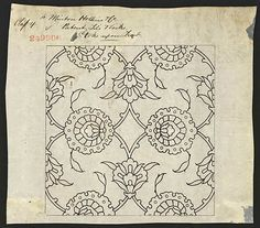 249906 - Minton Hollins & Co - 26 January 1871 - Pattern for a tile in black