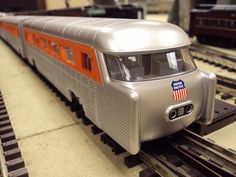Image of MTH RailKing O Gauge Union Pacific GM Aerotrain in MTH Test Room.