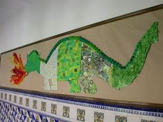 Idees magistrals: Drac de Sant Jordi School Art Projects, Projects For Kids, Crafts For Kids, Arts And Crafts, Castle Crafts, Enchanted Forest Theme, Dragon Party, Forest Art, Forest School