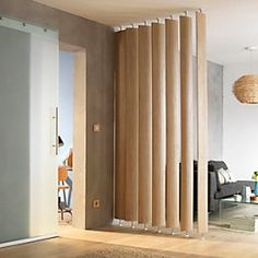 Ella White Oak Room Divider Single Blade