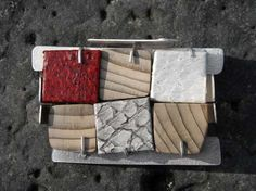 Helga Mogensen Jewellery - Gallery - Untitled Brooch......Connie Fox: Variety  of materials and colors.