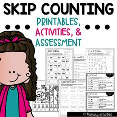 Skip Counting Printables, Activities, Exit Tickets, and Assessment Math Journal Prompts, Math Journals, Math Skills, Math Lessons, Grammar Skills, Back To School Activities, School Resources, Math Activities, Teacher Resources