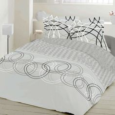 Crystal - Cotton Bed Linen Set (Duvet Cover & Pillow Cases) / SoulBedroom Home Textile - quality bedding, duvet covers, pillow cases, fitted sheets, flat sheets Fitted Sheets, Flat Sheets, Cotton Bedding, Linen Bedding, Geometric Bedding, Duvet Cover Design, Bed Linen Sets, Cover Pillow