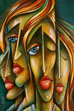 ' Pose ' Painting by Michael Lang