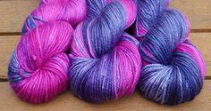 hand dyed dk weight extra fine merino silk yarn by FlockandNeedle