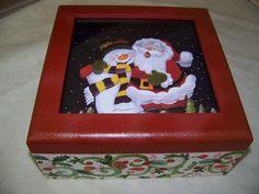 caixa de Natal com arte francesa