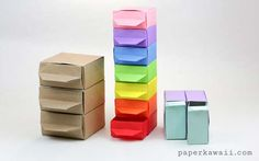17 Paper chest of coloured drawers - Diy & Crafts Ideas Magazine