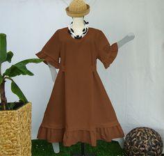 A-Form Kleid/Rüschen,Grössen 48-64,Leinen von HKB-Dress auf DaWanda.com