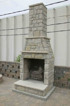 smaller outdoor fireplace... great for the small space we have by the pool.