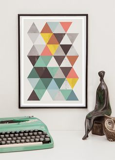 abstract geometric poster print