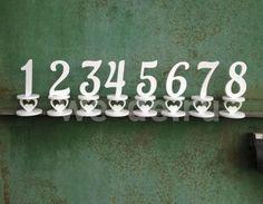 Номера столов на свадьбу, номерки свадебных столов, номера для столов для свадьбы