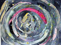 Watercolor, swirl, color. Sometimes it's great and other times it's not so great, but it's all a dance - you just gotta keep at it while the music plays. It's funny though, while we don't get to choose our song, we definitely get to choose our beat!  Watercolor painting, abstract.