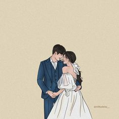 Art Love Couple, Cute Couple Drawings, Cute Couple Cartoon, Anime Couples Drawings, Cute Drawings, Korean Illustration, Couple Illustration, Cute Couple Wallpaper, Animated Love Images