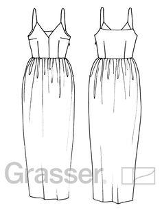 #sewing_pattern Выкройка платья, модель №207, магазин выкроек grasser.ru