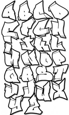 Graffiti Fonts Polka Style Graffiti Alphabet Letters Black. Part ...