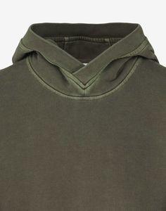 67266 PIGMENT TREATED Hooded Sweatshirt in Khaki