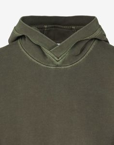 67266 PIGMENT TREATED Hooded Sweatshirt in Khaki