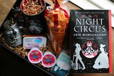 """Welcome to The Night Circus! Experience the circus in a both a new and classically magical way. The Night Circus book box includes: - A copy """"The Night Circus"""" by Erin Morgenstern Carnival Hot Cocoa f"""
