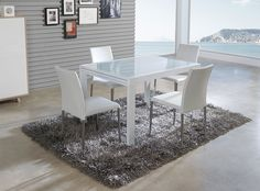 Tables on pinterest - Table verre extensible ...