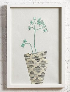 Wall art by Lotta Jansdotter for LThe Land of Nod via print & pattern blog.