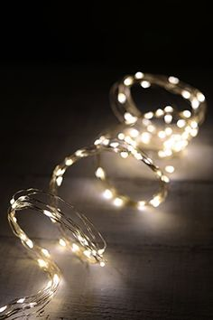29.99 SALE PRICE! Use the LED Fairy Lights in warm white to add enchanting light to even the darkest of spaces! These wiry, silver strands each contain 12 su...