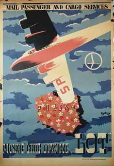 LOT Polish Airlines Poster | by San Diego Air & Space Museum Archives