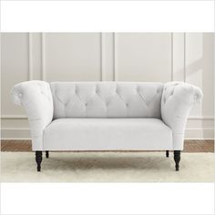 Skyline Furniture Velvet Roll Arm Chaise