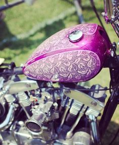 raspberry lace... on a motorcycle!!! :-) #lace #allthingslace #lovethelace