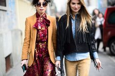 On the Streets of Milan Fashion Week Fall 2015 - Milan Fashion Week Fall 2015 Street Style Day 3-Wmag