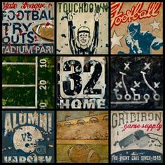 A vintage football themed room for the boys would be ADORABLE!