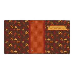 Autumn Glory Recipe Book Binder