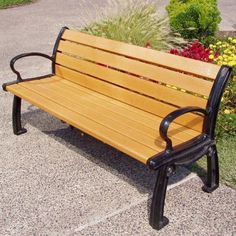 Outdoor Jayhawk Plastics Heritage Recycled Plastic Park Bench with Personalization Green Frame with 6 ft. Cedar Seat - PB 6CEDGFHER-1 RAIL PERSONALIZED