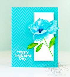 Amazing Card Created by Jennifer McGuire with Hero Arts stamps and Distress Inks 2013