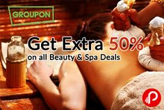 Nearbuy offers Extra 50% on all Beauty & Spa Deals. Valid only on 25th Nov, Valid on 1 voucher only. Choose your loaction in the page. Coupon Code – SPA50  http://www.paisebachaoindia.com/get-extra-50-on-all-beauty-spa-deals-nearbuy-groupon/