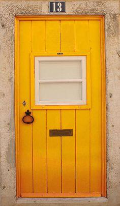 yellow door.