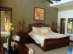 Tropical style interior bedroom decoration design