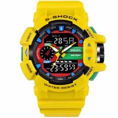 Spedizione Gratis Men's Watches, Watches For Men, Mens Luxury Brands, S Shock, Waterproof Sports Watch, Led, Digital Wrist Watch, Mens Sport Watches, Outdoor Men
