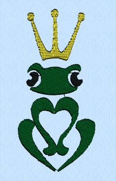 Frog Prince machine embroidery design file