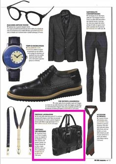 FOR MEN Magazine - October 2016 - Artisanal black leather bag for carrying your pc or Mac. Bronzed details and design by Fabio Lissi - PR&PressOffice www.valeriasartorio.com #fabiolissi #jewel #accessories #design #fashion