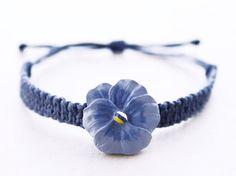 Purple+Pansy+Hemp+Bracelet++Hemp+Jewelry+by+controversial+on+Etsy,+$12.00